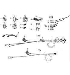 Штатная электрика к фаркопу на Audi A3/Q2/Q3 305407300107