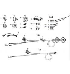 Штатная электрика к фаркопу на Volkswagen Arteon/Golf/Passat/Tiguan/Touran/T-Roc 305407300107