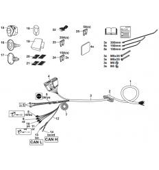 Штатная электрика к фаркопу на Mercedes-Benz A/B/CLA/GLA/GLB 313215300113