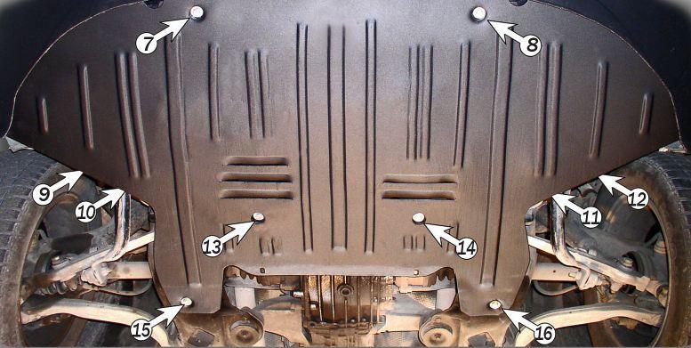 Защита картера Audi A6 (Ауди)